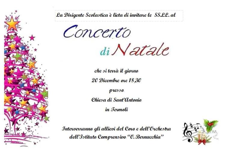 Invito al concerto di Natale