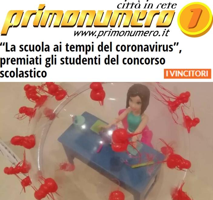 """Concorso """"La Scuola… la vita ai tempi del coronavirus"""""""