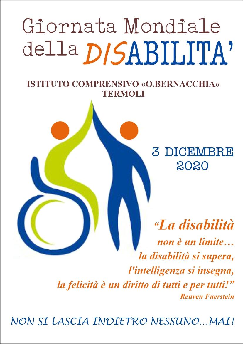 Locandina giornata della disabilità